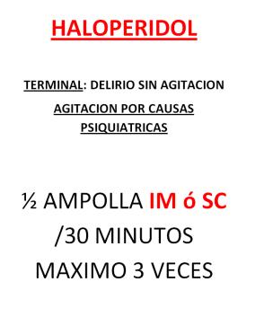 A HALOPERIDOL