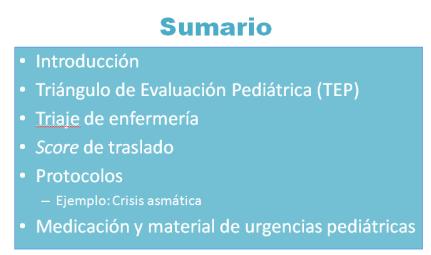 sumario ped