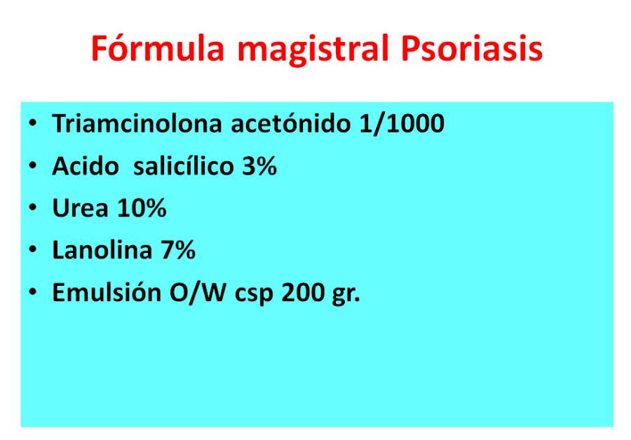 Fórmula magistral psoriasis