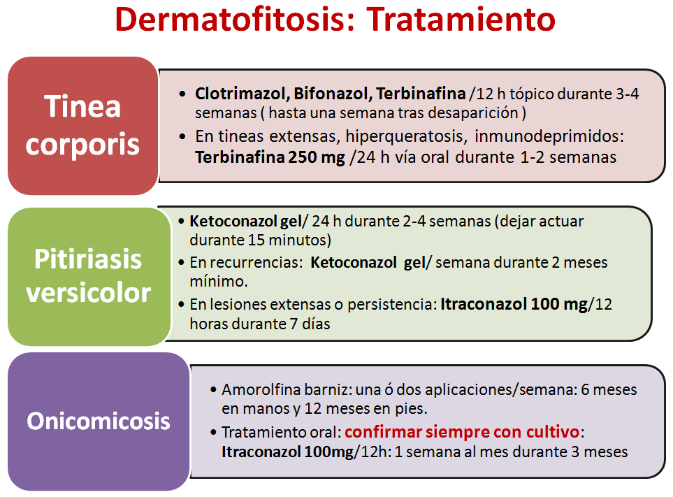Dermatofitosis tratamiento